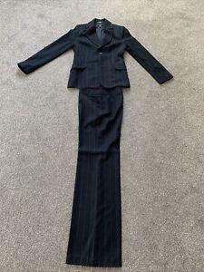 Mango Mng Black Pin Stripe Trouser Suit TALL Size 14