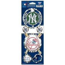 NEW YORK YANKEES PRISMATIC HOLOGRAPH STICKER DECAL LABEL SHEET OF 5 MLB BASEBALL