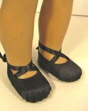 "Black Ballet Slippers Hard Toe Shoes fits American Girl Doll, 18"" Doll Ballerina"