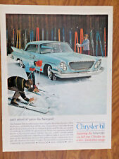 1961 Chrysler Newport Coupe Ad   Skiing Theme