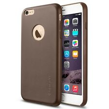 Spigen Iphone 6 (5.5) plus cas en cuir marron olive série fit