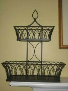 Southern Living At Home Farmhouse Tiered Basket #40928 Orig. $60