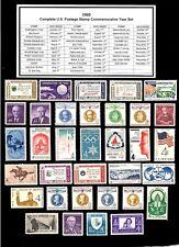1960 - 1969 COMMEMORATIVE DECADE SET OF MINT -MNH- VINTAGE U.S. POSTAGE STAMPS