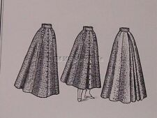 Old West Truly Victorian Edwardian style split skirt sewing pattern TV299