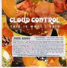 (CE395) Cloud Control, This Is What I Said - 2011 DJ CD