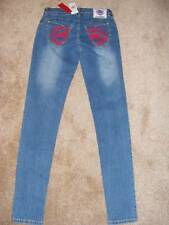 NWT $59 MARC ECKO RED pockets stretch skinny jeans 3/4