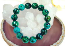 Bracelet from Precious Stone Chrysocolla in Ball Shape d-12 mm