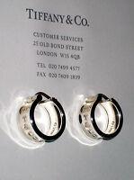 Tiffany & Co Sterling Silver 1837 Hoop Earrings