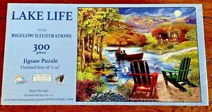 SunsOut Lake Life  W/ Art By Bigelow Illustrations, 300 Pcs Large Piece Puzzle