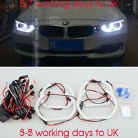 4X SMD ANGEL EYE HALO RING LED DRL SIDELIGHT CUSTOM INSTALL 6000K For BMW F30