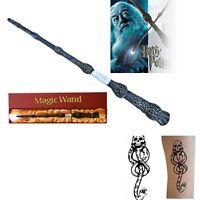 New Harry Potter Dumbledore Magic Magical LED Light Wand Luxury Box +Free Tattoo
