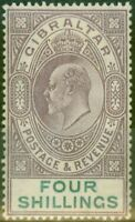 Gibraltar 1903 4s Dull Purple & Green SG53 Fine Mtd Mint (3)