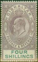 Gibraltar 1903 4s Dull Violet & Vert SG53 Fin MTD Excellent État (3)