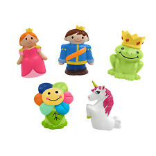 Idea Factory Prince & Princess Finger Puppets - Party Favors, Educational, Bath