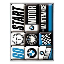 NOSTALGIE Magnetset 9teilig, BMW Bayrische Motoren Werke Auto Kfz NEU OVP