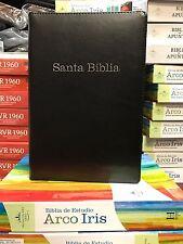 biblia de estudio arcoiris REINA VALERA 1960 CON CIERRE NEGRO CON INDICE