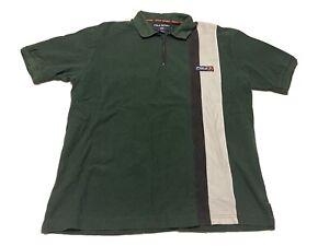 Vintage 90s Polo Sport Ralph Lauren 1/4 Zip Spell Out Mens Short Sleeve Shirt L