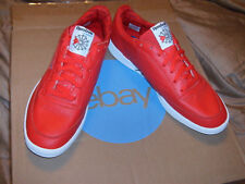 Reebok Men's Classic International Red Leather Beautiful Shoe Low Top NEW Sz 13m