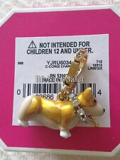 BRAND NEW! JUICY COUTURE CORGI PET DOG BRACELET CHARM IN TAGGED BOX