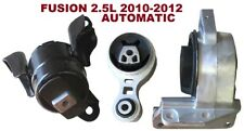 9R3147 3pc Motor Mounts fit 2.5L FWD AWD 2010 - 2012 Ford Fusion AUTOMATIC Trans