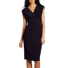 EVAN PICONE Navy and Red Dotted Jersey Dress NWT - Size US 8 (AU 12)