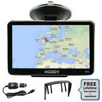 XGODY 560 5'' Car HGV GPS Navigation Device Bluetooth Free UK EU Map Sunshade