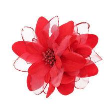 Accessoires de coiffure barrettes rouge pour femme