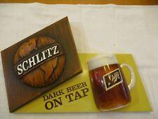 Vintage Schlitz Dark Beer On Tap Embosograph 1971