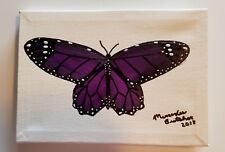 handpainted acrylic butterfly