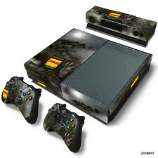 Xbox One Console Skin Decal Sticker Resident Evil Zombie Custom Design Set