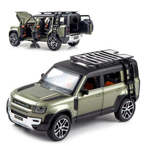 1:24 Land Rover Defender 110 SUV Model Car Toy Collection Sound Light Kid Gift
