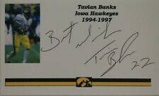 Tavian Banks Iowa Hawkeyes Football Autographed 3x5 Card
