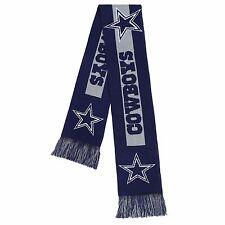 Dallas Cowboys Scarf Knit Winter Neck - Double Sided Big Team Logo New 2016