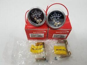 2 PK MURPHY 100 PSI MAX OIL PRESSURE SWITCH GAUGE 20P-100