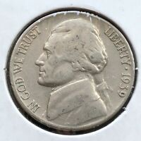 USA 1939 S Jefferson Nickel 5 Cent San Francisco Selten #16355