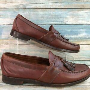 Allen Edmonds Mens Ashford Brown Leather Dress Loafers Tassel Moc Toe Size 8.5D