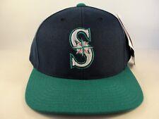 Seattle Mariners MLB Vintage Snapback Hat Cap American Needle Navy Teal