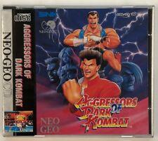 SNK Neo Geo CD Aggressors Of Dark Kombat USA