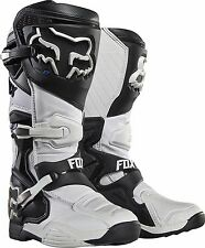 2017 Fox Racing Mens White Comp 8 Racing MX Moto Boots SIZE 11 16451-008-11