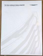 2016 Chrysler Town & Country Original Sales Brochure Catalog NEW