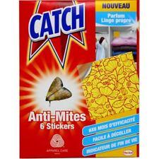 CATCH - Anti mites des vêtements x 6 stickers Armoire Penderie efficace 6 mois