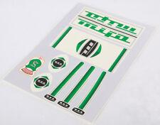 MIFA Décalques Autocollants Décor Vert 7 Pièces Set 60er/70er RDA Klapprad Autocollant