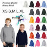 Unisex Youth Boy Girl Kids Child Hoodie Blank Plain Basic Hooded Sweat Sweater