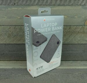Eggtronic 63W Laptop Power Bank - Canvas - Gray - Ultra Fast - NEW SEALED!