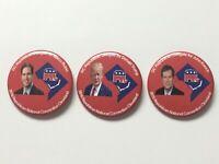 3 2016 Republican National Convention DC Delegate Buttons Trump Rubio Kasich