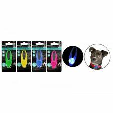 Brillante LED Collar de perro colgante etiqueta intermitente Mascota Cachorro Luminoso Noche Luz
