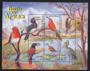 LIBERIA 2009 BIRD STAMPS BIRDS OF AFRICA MNH - BIRDL442
