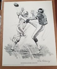 DAVE JENNINGS NY GIANTS ORIGINAL 1981 SHELL OIL 11X14 LITHOGRAPH PRINT