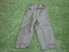 Rare Original US Army Issue Rubberised Wet Weather Overalls Vietnam Large 42-44