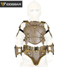 IDOGEAR Tactical Vest MOLLE Paintball Armor Suit w/ Elbow Pads Buckle Belt Gear